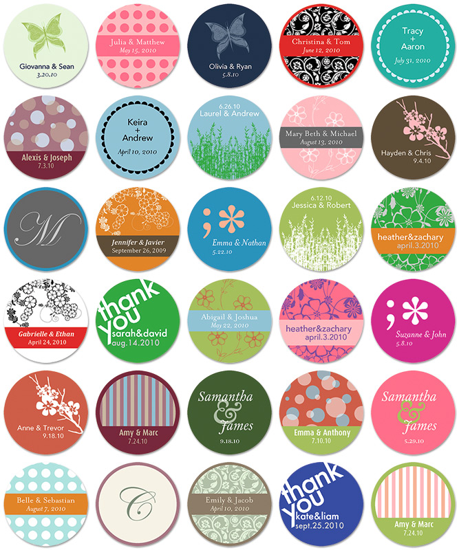 Modern Zebra: Personalized Wedding Favors and Stickers